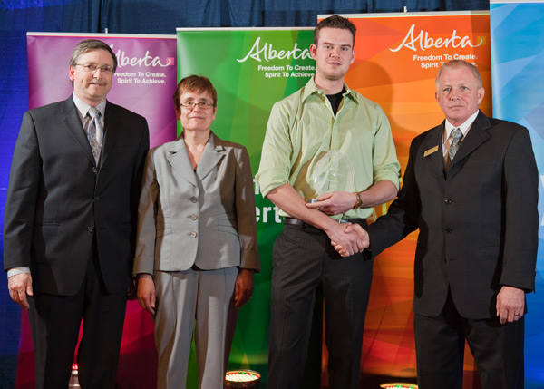 Jeffrey Archer, winner of the 2011 Thermal Insulation Association of Alberta Journeyman Insulator Award